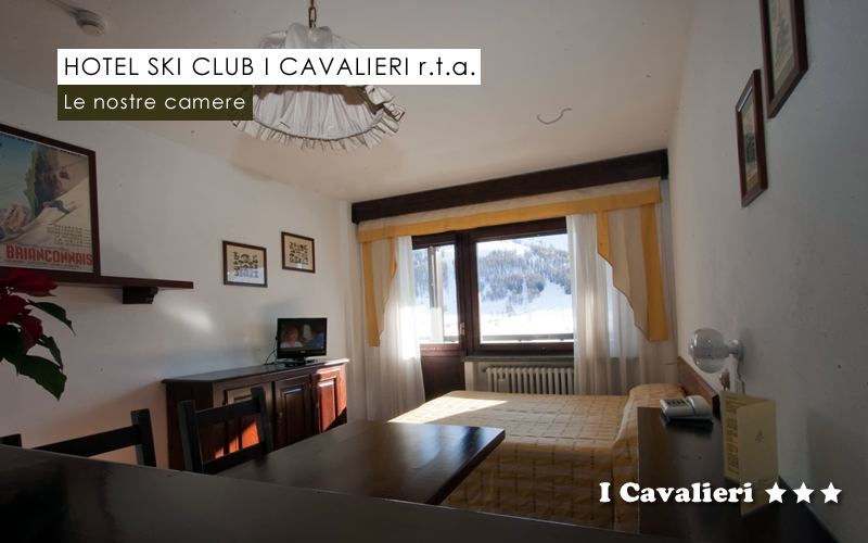 "Quarto ""MONO 3/4"" do Hotel Ski Club I Cavalieri"