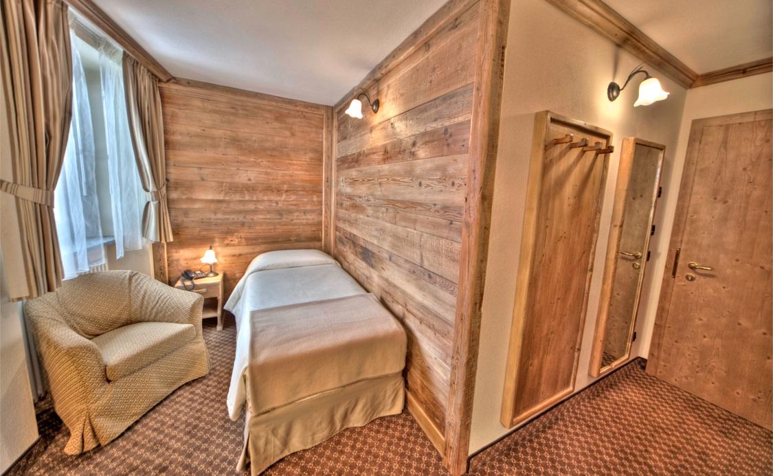 Quarto singulo do Hotel Le Miramonti **** - La Thuile