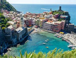 Gênova e Cinque Terre em Bicicleta em  7 dias