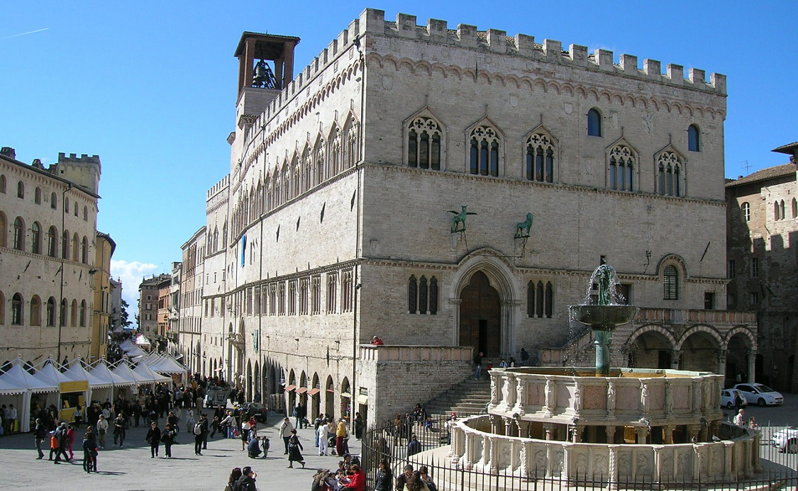italia mil lugares viagem perugia piazza